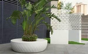 idee jardin moderne decoration avec pot de fleur design With chambre bébé design avec grand pot fleur exterieur