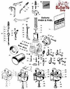 Dellorto Phbh And Phbl Carburetor Parts