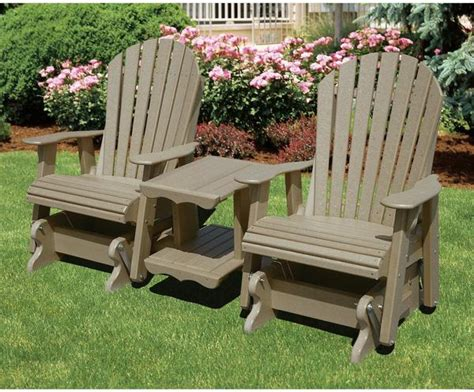 wildridge outdoor double seat adirondack rock  tee glider