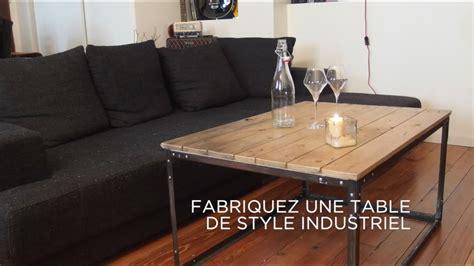 diy fabriquez une table de style industriel