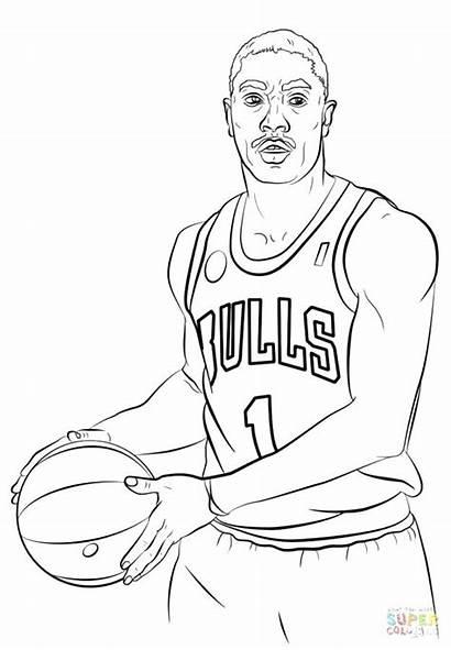 Nba Players Drawing Basketball Coloring Pages Sheets