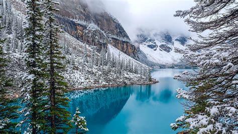 Wallpaper Moraine Lake, Snow, Winter, 4k, Nature, #3373
