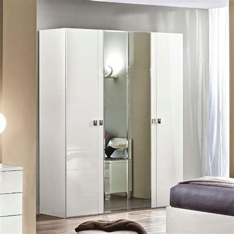 White 4 Door Wardrobe by Onda 4 Door Wardrobe White By Esf Furniture Furniturepick