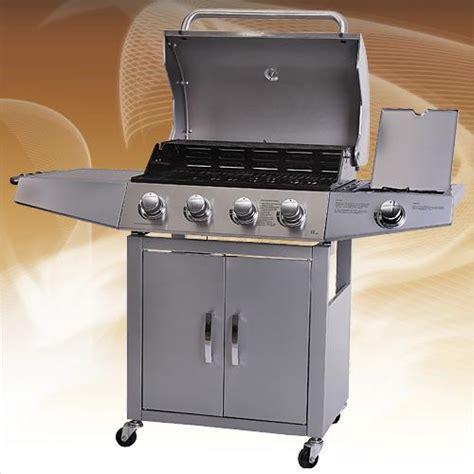 barbecue gaz bruleur inox barbecue 224 gaz 5 br 251 leurs inox plancha 224 bas prix