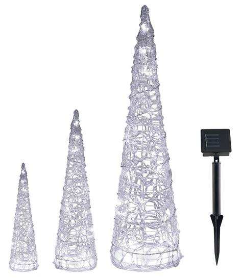 sapins solaires lumineux cone noel lot de 3 d 233 coration solaire noel objetsolaire