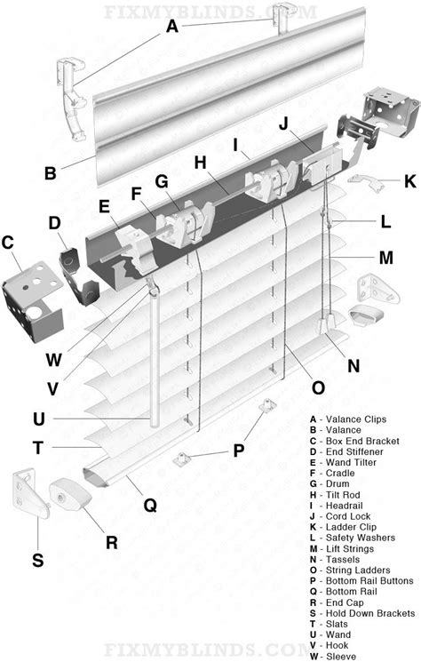 "Mini Blind Diagram, 1"" aluminum slat: When fixing your"