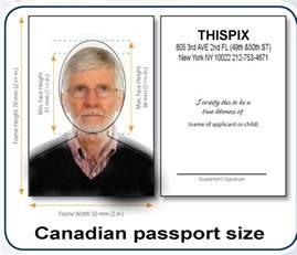 Canadian Passport Size