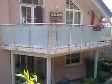 balkon aus aluminium balkongeländer glas treppen geländer ebay