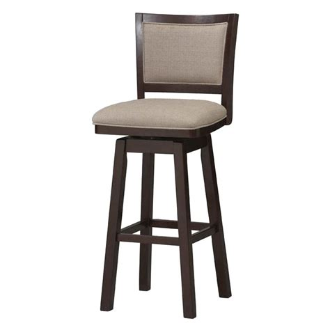 Cushioned Bar Stools With Backs by Padded Back Wood Swivel Counter Stool 24 In At Hayneedle