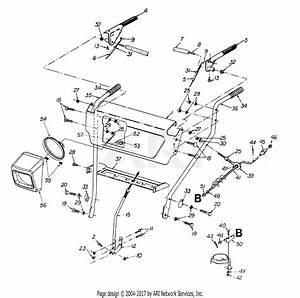 Mtd 31ae645e352  1998  Parts Diagram For Handle Assembly