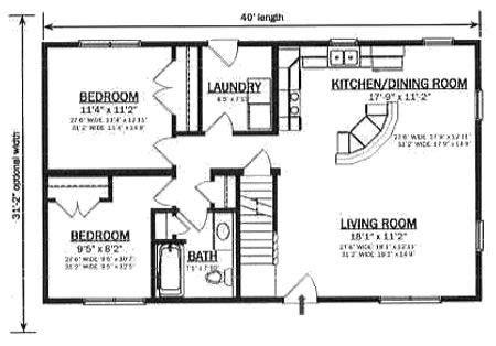 C124721 2 by Hallmark Homes Cape Cod Floorplan Floor