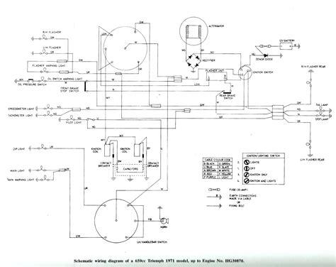 71 triumph motorcycle wiring diagram 36 wiring diagram
