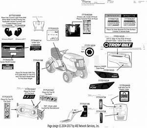 Troy Bilt 13am77ks011 Pony  2016  Parts Diagram For Label Map