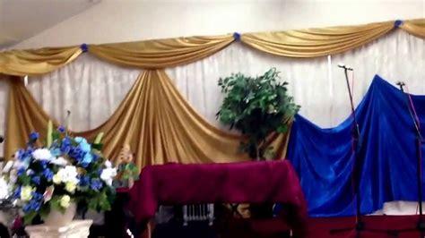 church decor wall draping