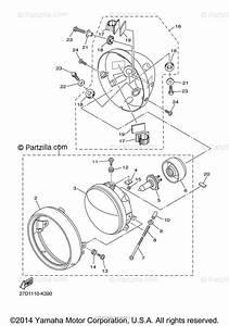 Yamaha Motorcycle 2015 Oem Parts Diagram For Headlight