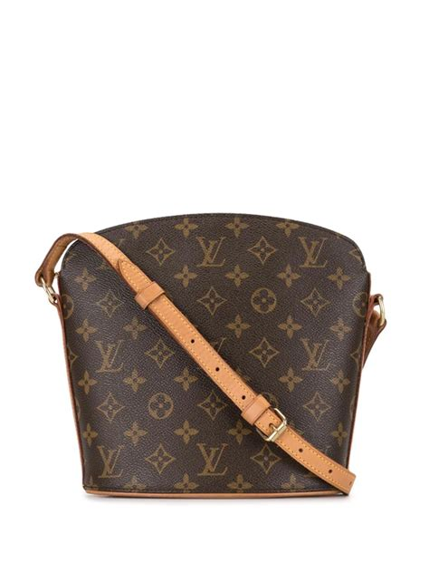 pre owned louis vuitton  pre owned drouot crossbody bag  modesens