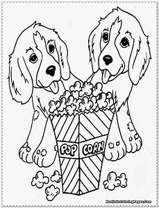 Free coloring pages of baby puppy