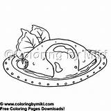 Coloring Omelet Meals Delicious 2058 Coloringbymiki Breakfast Yummy Colouring 飲み物 食べ物 Drink sketch template