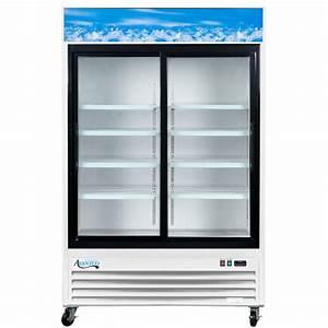 Avantco Gds 8 U0026quot  White Sliding Glass Door