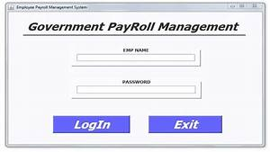 payroll management project report on payroll management With employee management system documentation download