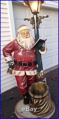 ft tall outdoor lighted vintage heirloom santa