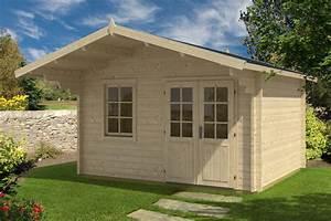 Gartenhaus Mit Vordach : gartenhaus mit vordach johanna b 12 5m 44mm 3x4 hansagarten24 ~ Udekor.club Haus und Dekorationen