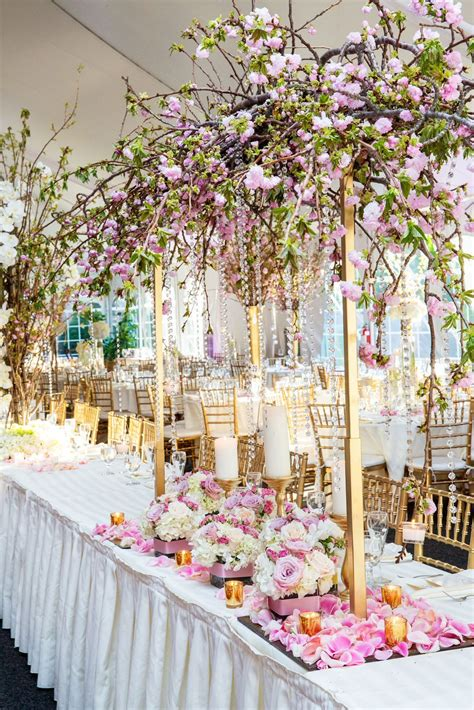 Pretty Cherry Blossom Wedding Decor Bijal And Amishs