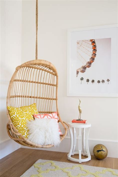 bedroom hanging chair 20 hanging wicker chairs for a vacation vibe shelterness