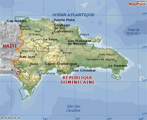 Punta Cana Carte Géographique Monde by Carte G 233 Ographique De La R 233 Publique Dominicaine