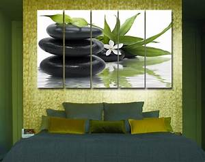 zen pebbles flower modern decor wall art on quality With zen wall art