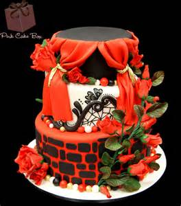 Unique Wedding Cake Red and Black