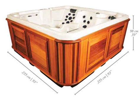 dimensions of 6 person tub 6 person tubs