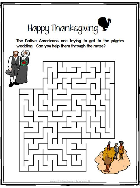 free printable thanksgiving maze thanksgiving worksheets books thanksgiving thanksgiving