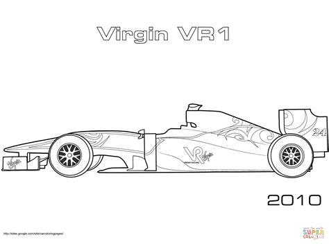 Voiture De Formule 1 Virgin Vr-01
