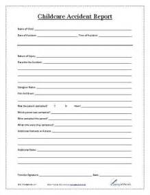 Child Care Accident Report Form