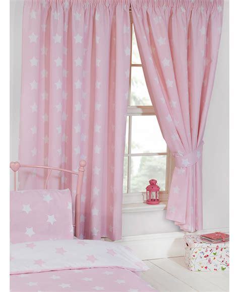 Pink Curtains by Pink And White Lined Curtains Bedroom Curtains