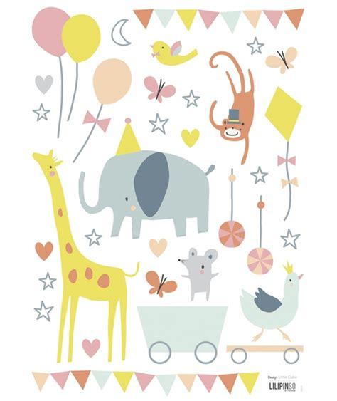 stickers animaux chambre b饕 stickers bébé couleurs pastel