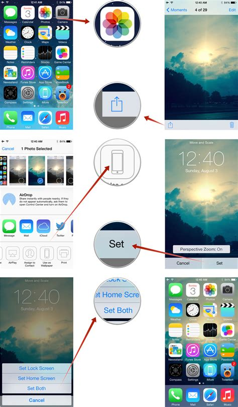 set homepage on iphone how to make slideshows contacts and wallpapers from