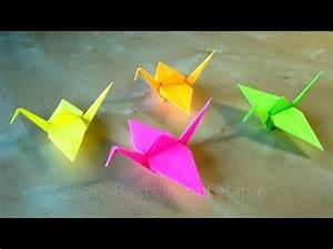 Origami Kranich Anleitung : origami kranich falten basteln mit kindern bastelideen diy anleitung ~ Frokenaadalensverden.com Haus und Dekorationen