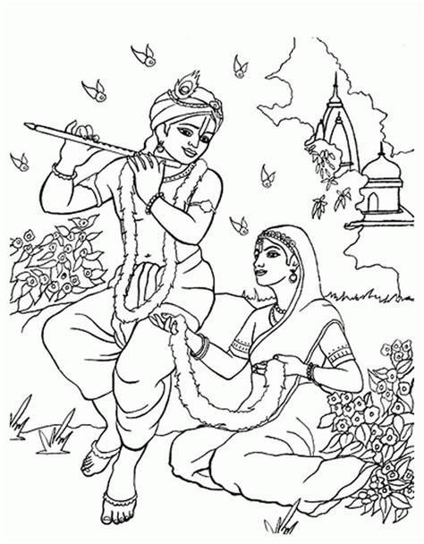shri krishna janmashtami coloring printable pages
