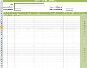 checkbook register template in excel With microsoft excel check register template