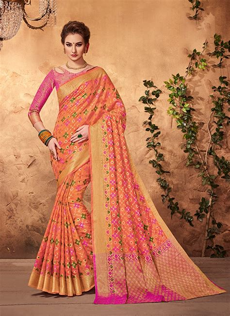 wedding wear indian designer silk saree styles 2018