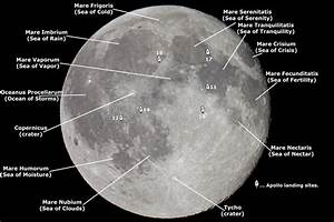 Map Of The Moon Stock Image  Image Of Black  Bright