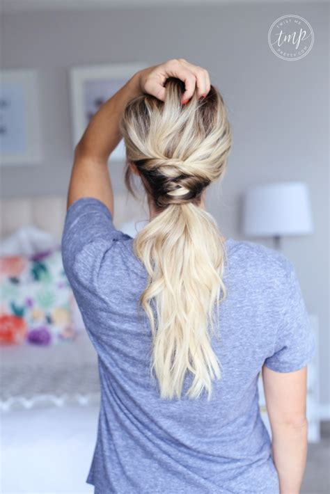 cute ponytail hairstyles   beach coastal living