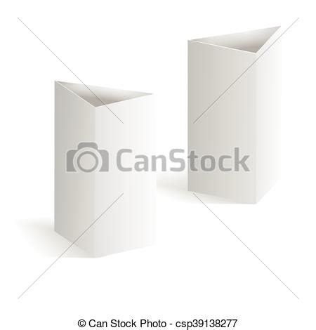 triangle tent card template white blank table tent vertical triangle cards isolated on