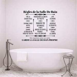 La Salle De Bain : sticker citation r gles de la salle de bain stickers ~ Dailycaller-alerts.com Idées de Décoration