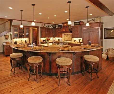 second kitchen islands i m not sure how i feel about this curved approach to 5104