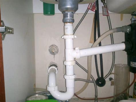 plumbing a garbage disposal in a double sink dual sink plumbing