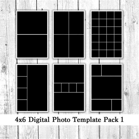 photo template pack  photo card templates photo