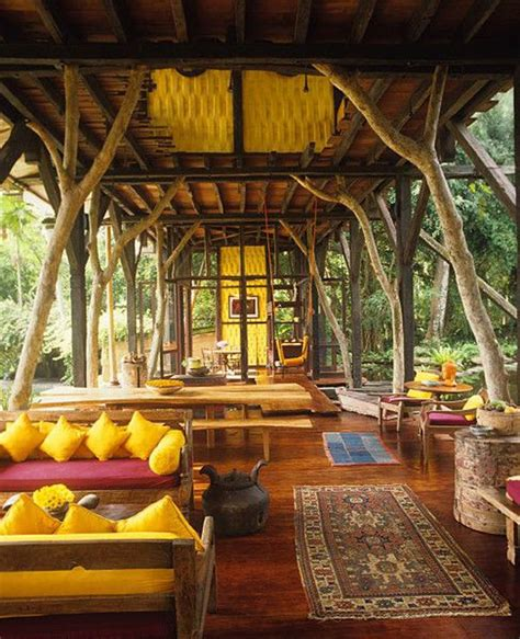 cozy outdoor living space house bamboo house house